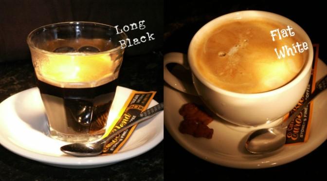 Long Black Flat White Coffee